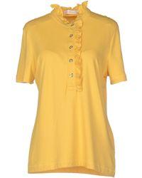 Tory Burch Polo Shirt yellow - Lyst