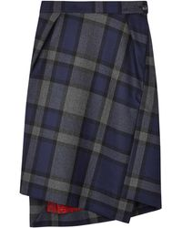 Vivienne Westwood Red Label Red Label Navy Tartan Skirt - Lyst