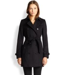 Burberry London Kensington Wool & Cashmere Trench - Lyst