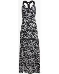 A.L.C. Patti Zip Front Print Dress black - Lyst