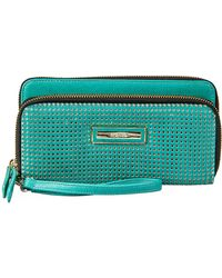 Kenneth Cole Reaction Leather Double Za Clutch - Lyst