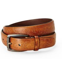 Will Leather Goods - Cognac Printed Leather Belt - Lyst