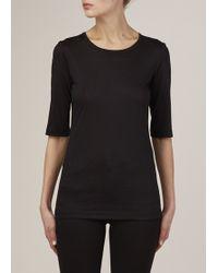 Jil Sander   Black Half Sleeve T Shirt   Lyst
