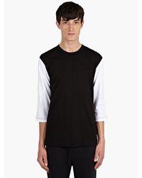 Comme Des Garçons Mens Contrast Long Sleeve Cotton Tshirt - Lyst
