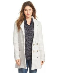 Lucky Brand - Ribbed Sweater Coat - Lyst