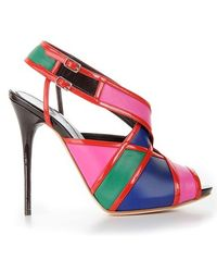 Alexander McQueen Slingback Sandals - Lyst