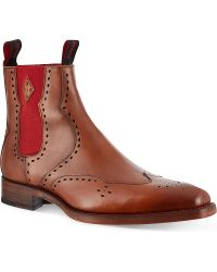 Jeffery West Novikov Punched Chelsea Boots brown - Lyst
