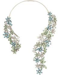 BCBGMAXAZRIA Stone Floral Necklace - Lyst