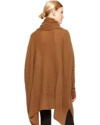 Donna Karan New York Cowl Neck Poncho Sweater - Lyst