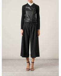 Acne Studios Wide Cropped Trousers - Lyst