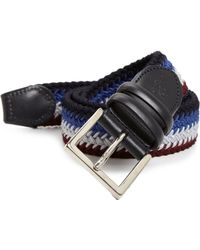 Canali Multicolor Braided Belt - Lyst