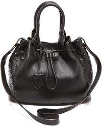 Ela - Small Scandi Drawstring Bag  Black - Lyst
