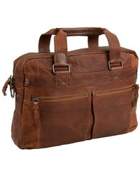 Andrew Marc 'Bowery' Briefcase - Metallic - Lyst