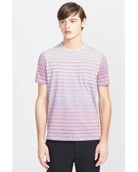 Missoni Space Dye Stripe Crewneck T-Shirt - Lyst