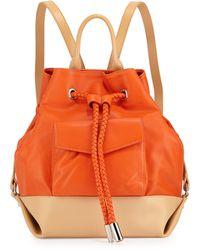 L.A.M.B. Gracie Colorblock Leather Backpack orange - Lyst