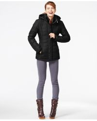 Rampage | Hooded Quilted Puffer Coat | Lyst