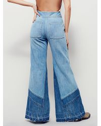 Free People | Womens Tidal Wave Extreme Novelty Flare | Lyst