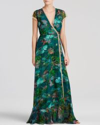 Twelfth Street Cynthia Vincent Maxi Dress - Wrap Floral - Lyst