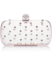 Lela Rose - Pearl Embroidered Lucite Minaudiere - Lyst