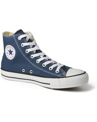 Converse Chuck Taylor All Star Hi-Top Plimsolls blue - Lyst