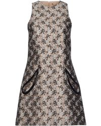 Christopher Kane Beige Short Dress - Lyst
