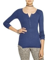 Free People | Megs Up All Night Henley Top | Lyst