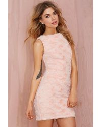 Nasty Gal Wheels And Dollbaby Kitty Kat Faux Fur Dress - Lyst