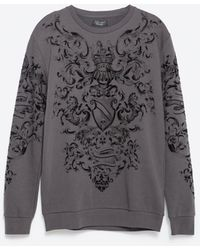 Zara | Printed Sweatshirt | Lyst