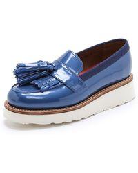 Foot The Coacher - Clara Tassel Loafers - Blue Pearl - Lyst