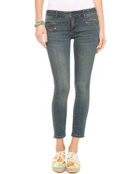 Free People Zip Ankle Crop Jeans - Lyst