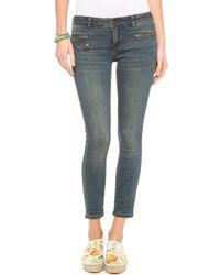 Free People Zip Ankle Crop Jeans - Lyst