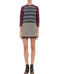 Betina - Jeweledfront Striped Sweatshirt - Lyst