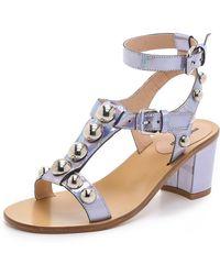 Markus Lupfer Embellished City Sandals - Hologram Silver - Lyst