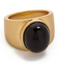 Madewell Cabochon Cocktail Ring - True Black - Lyst
