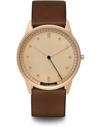 HyperGrand | 01nato Rose Gold Watch On Rose Gold Dial And Brown Leather Strap | Lyst
