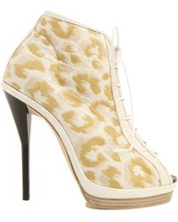 3.1 Phillip Lim Lace Up Bootie In Brass - Lyst