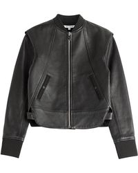 Paco Rabanne Leather Jacket black - Lyst