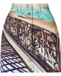 Mary Katrantzou Denim Skirt Twist - Lyst