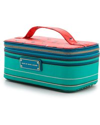 Marc By Marc Jacobs Coated Canvas Stripe Cosmetic Bag Aqua Lagoon - Lyst