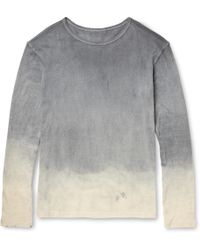The Elder Statesman Dyed Cotton and Cashmereblend Tshirt - Lyst