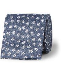 Oliver Spencer - Sorrell Floral-Print Linen Tie - Lyst