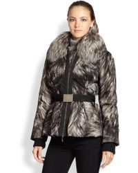 Moncler Printed Canet Puffer Jacket - Lyst