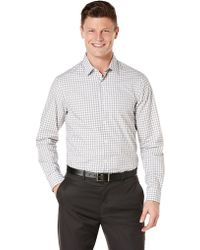 Perry Ellis Slim Fit Ombre Check Sport Shirt - Lyst
