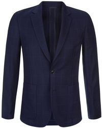 Paul Smith Soho Windowpane Check Wool Blazer - Lyst