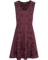 Zac Posen Butterfly-jacquard Jersey Dress - Lyst