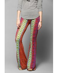 Urban Outfitters - Raga Printmix Bell Flare Pant - Lyst