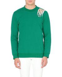 Raf Simons Nails Cottonjersey Sweatshirt Green - Lyst
