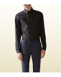 Gucci Cotton Poplin Slim Shirt - Lyst