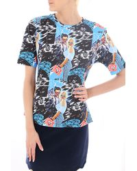 House Of Holland Tshirt Bluviola - Lyst