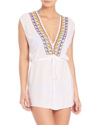 Milly | Murano Embroidered Jolla Dress | Lyst